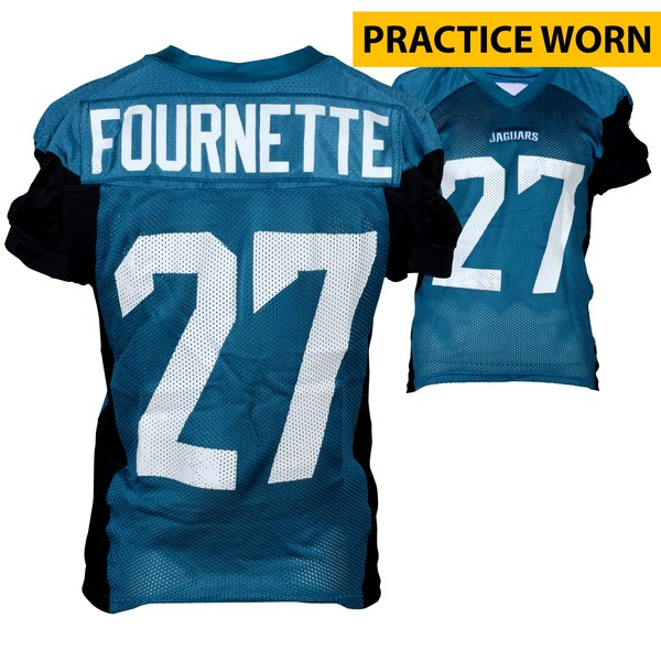 Jacksonville Jaguars Leonard Fournette Fanatics Authentic Practice-Used Jersey from the 2017 NFL Season